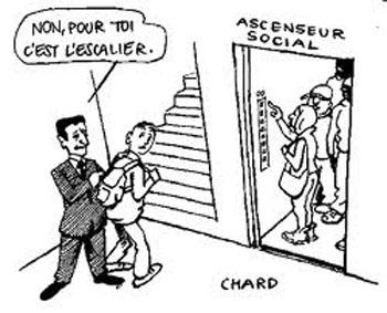 L'ascenseur social n'est plus pour tout le monde dans Societe ascenseur